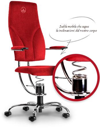 Sedia ergonomica con schienale