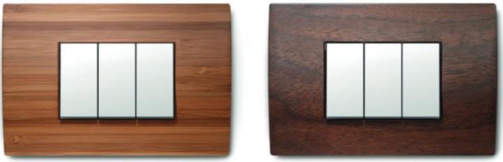 Placche luce con un design moderno