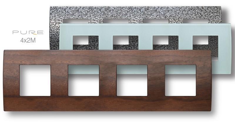 placche in legno per interruttori